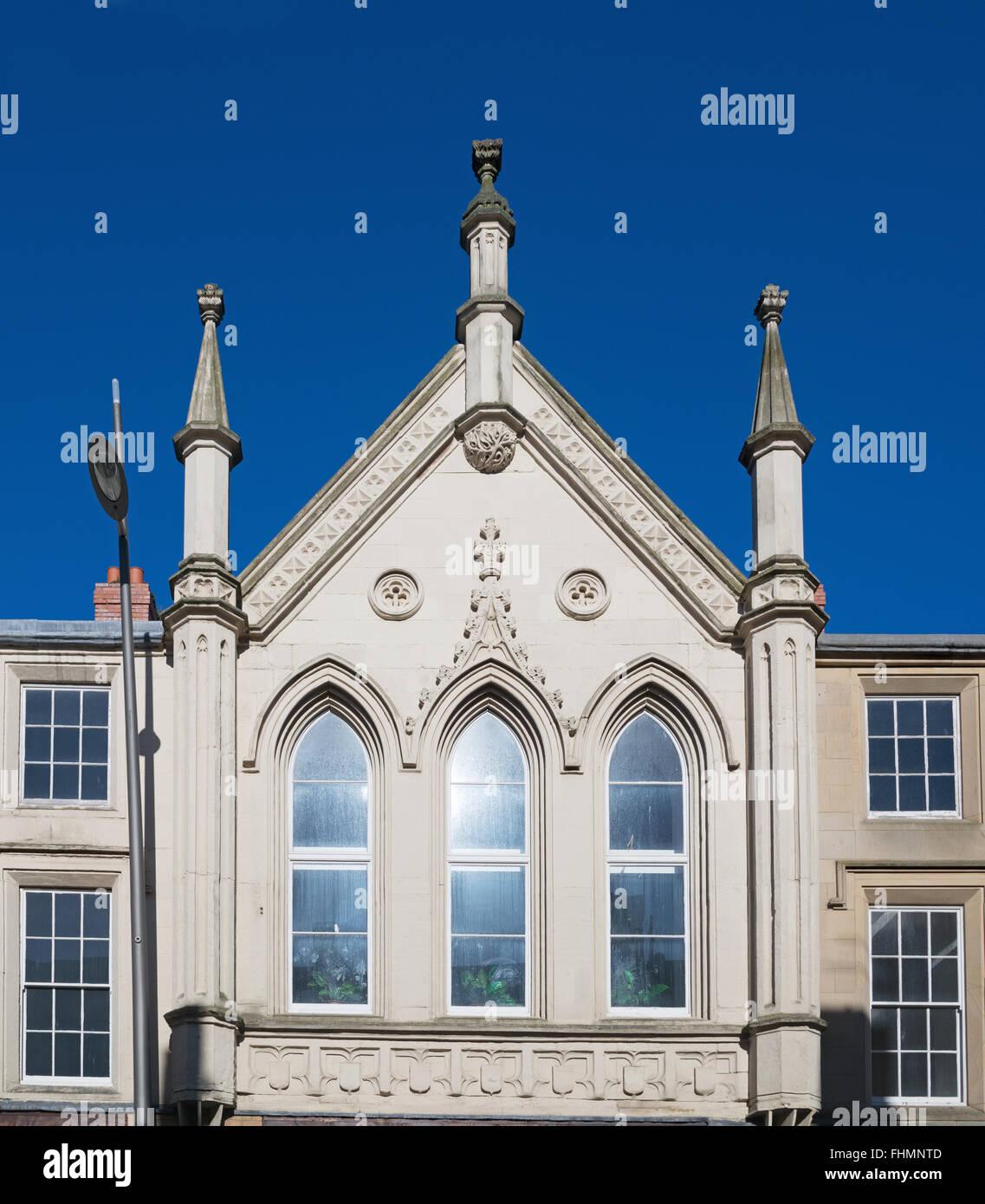 La sezione centrale del registro degli edifici, High Street West, Sunderland, North East England, Regno Unito Immagini Stock