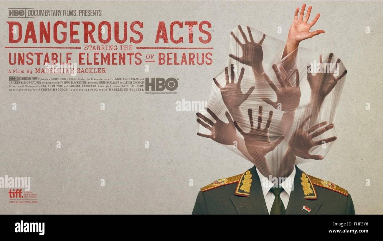 POSTER del filmato pericoloso agisce con protagonista il gli elementi instabili della Bielorussia (2013) Immagini Stock