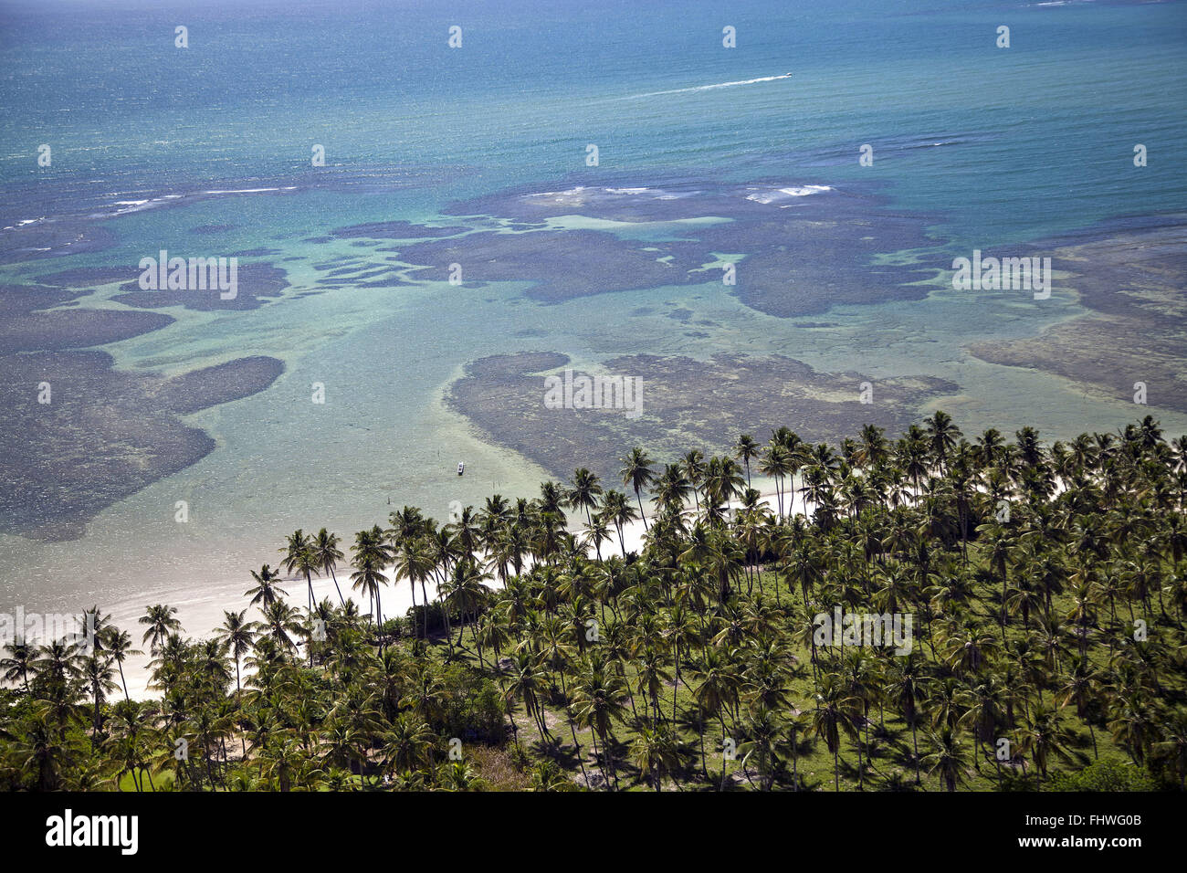 Le barriere coralline in Morere Beach - Boipeba - Arcipelago Tinharé Immagini Stock
