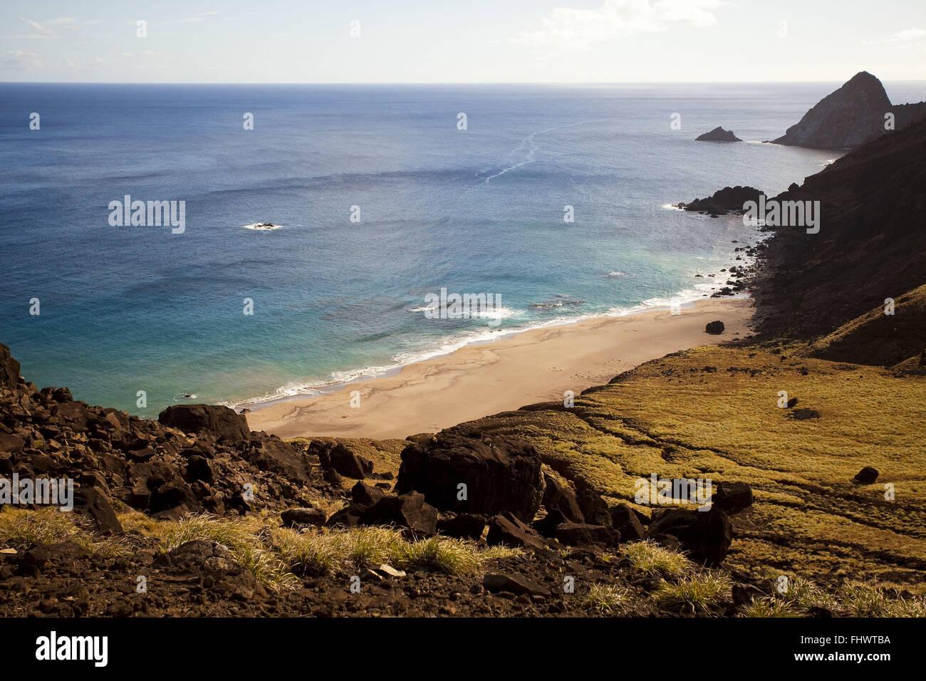 Ilha da Trindade con oceano Atlantico in background Immagini Stock
