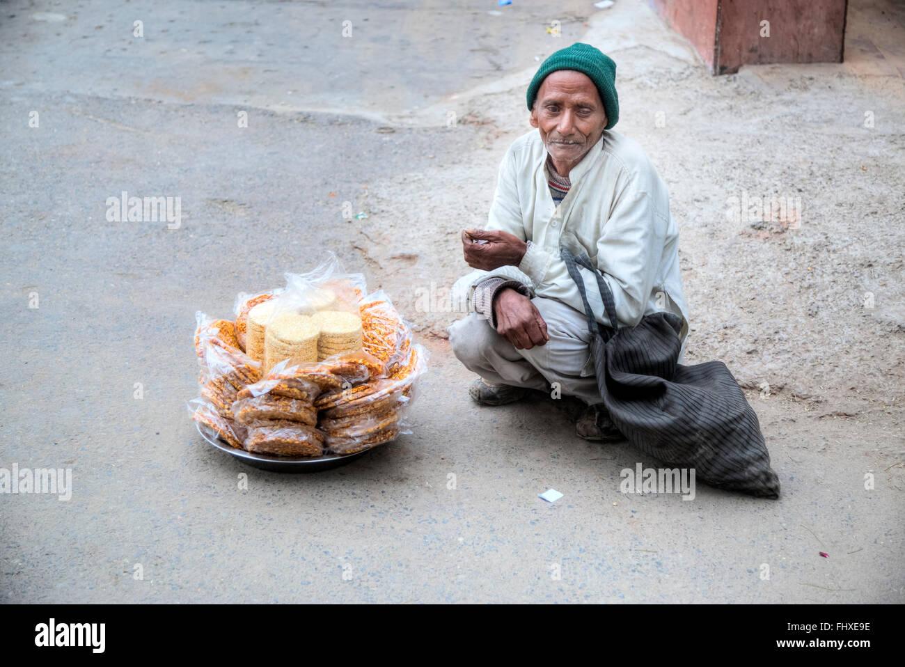 Venditore ambulante in New Delhi, India, Asia Immagini Stock
