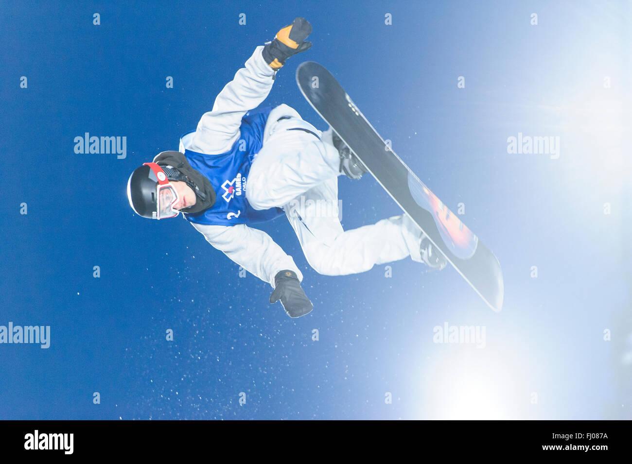 Oslo, Norvegia. 26 Febbraio 2016 Il 2016 Winter X Games sono arrivati a Oslo in questo anno, portando gli atleti Immagini Stock