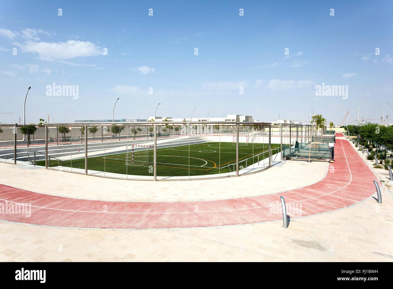 Impianti sportivi a Doha, in Qatar Immagini Stock