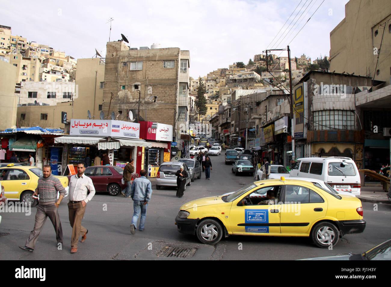 Strade di Amman in Giordania Immagini Stock