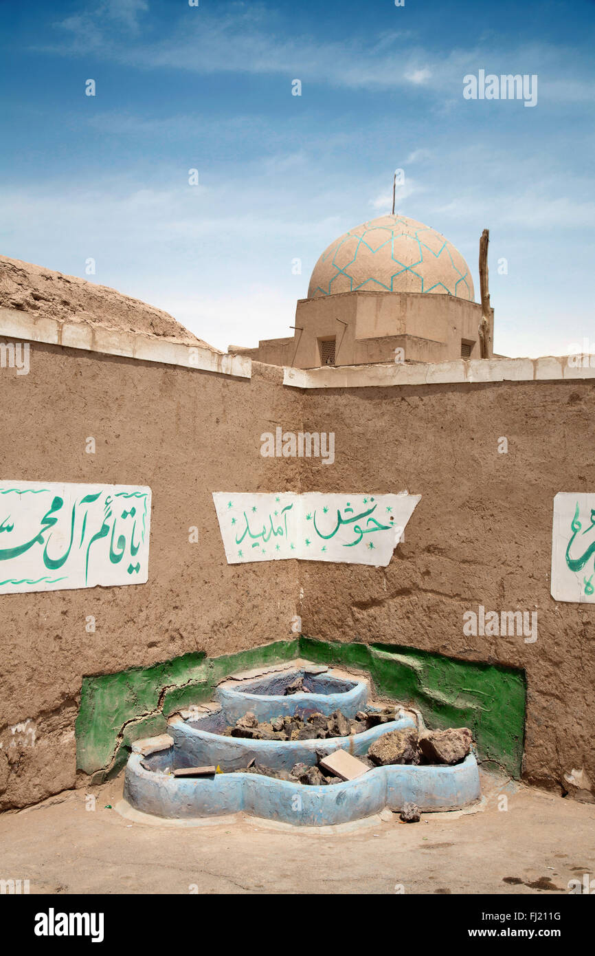 Architettura tradizionale e i monumenti per le strade della città vecchia di Yazd , Iran Immagini Stock
