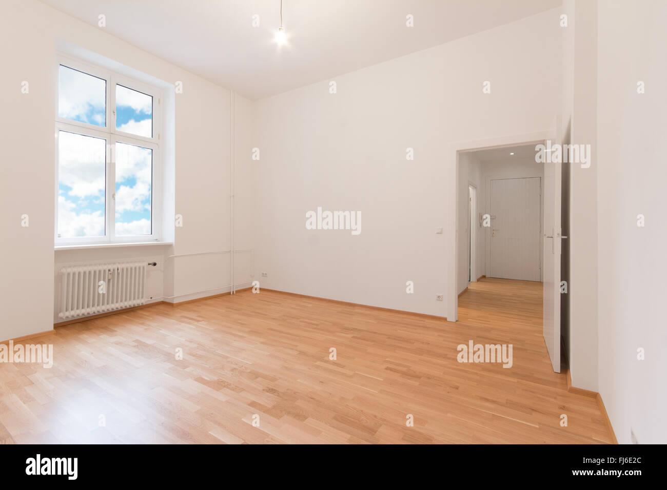 Pavimento Bianco Colore Pareti : Appartamento camera vuota pareti di colore bianco con pavimento