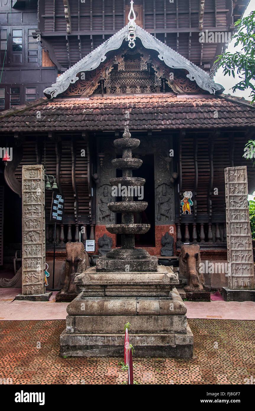 Folklore Theatre Museum, Cochin, Kerala, India, Asia Immagini Stock