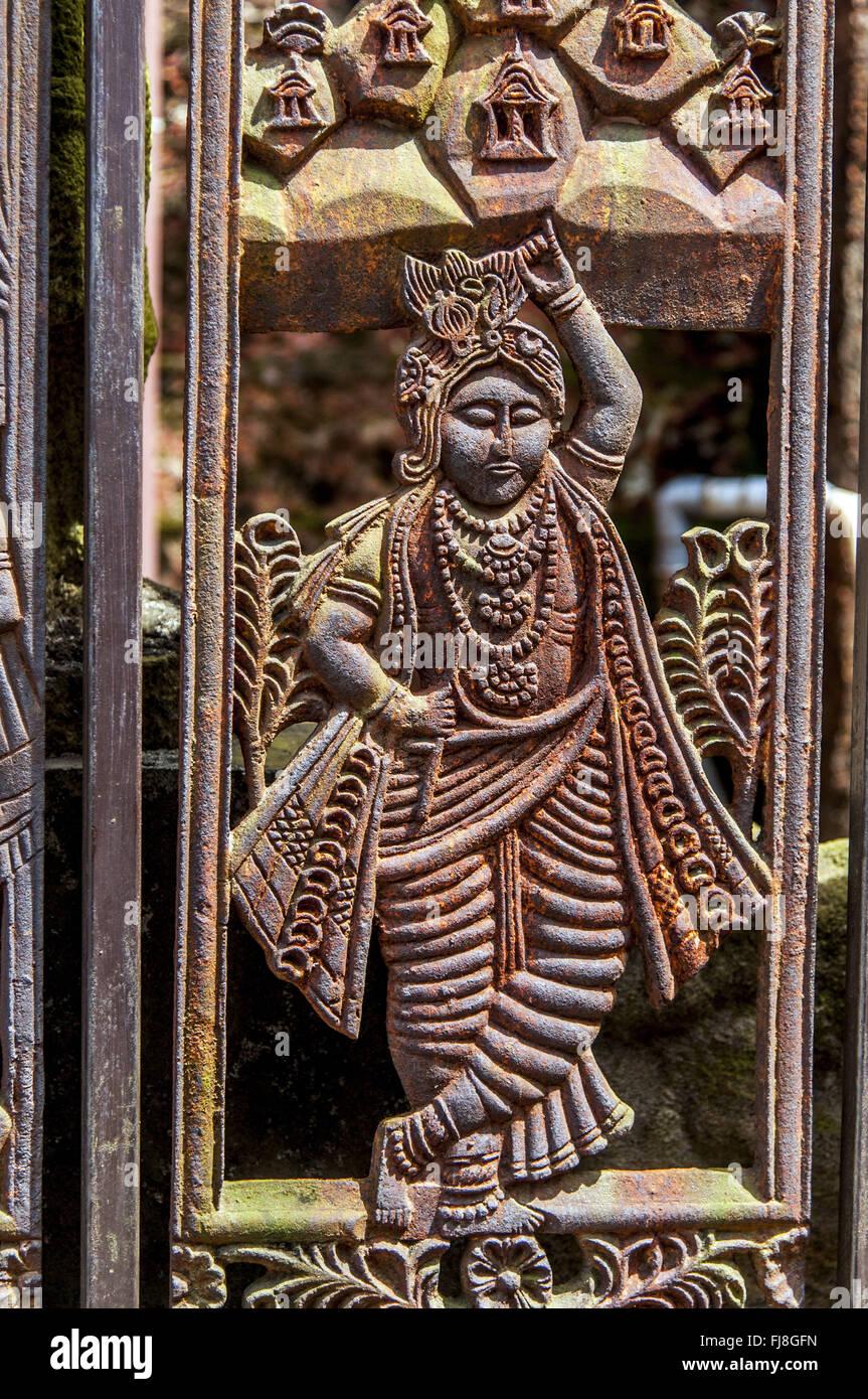 Krishna folklore Theatre Museum, Cochin, Kerala, India, Asia Immagini Stock