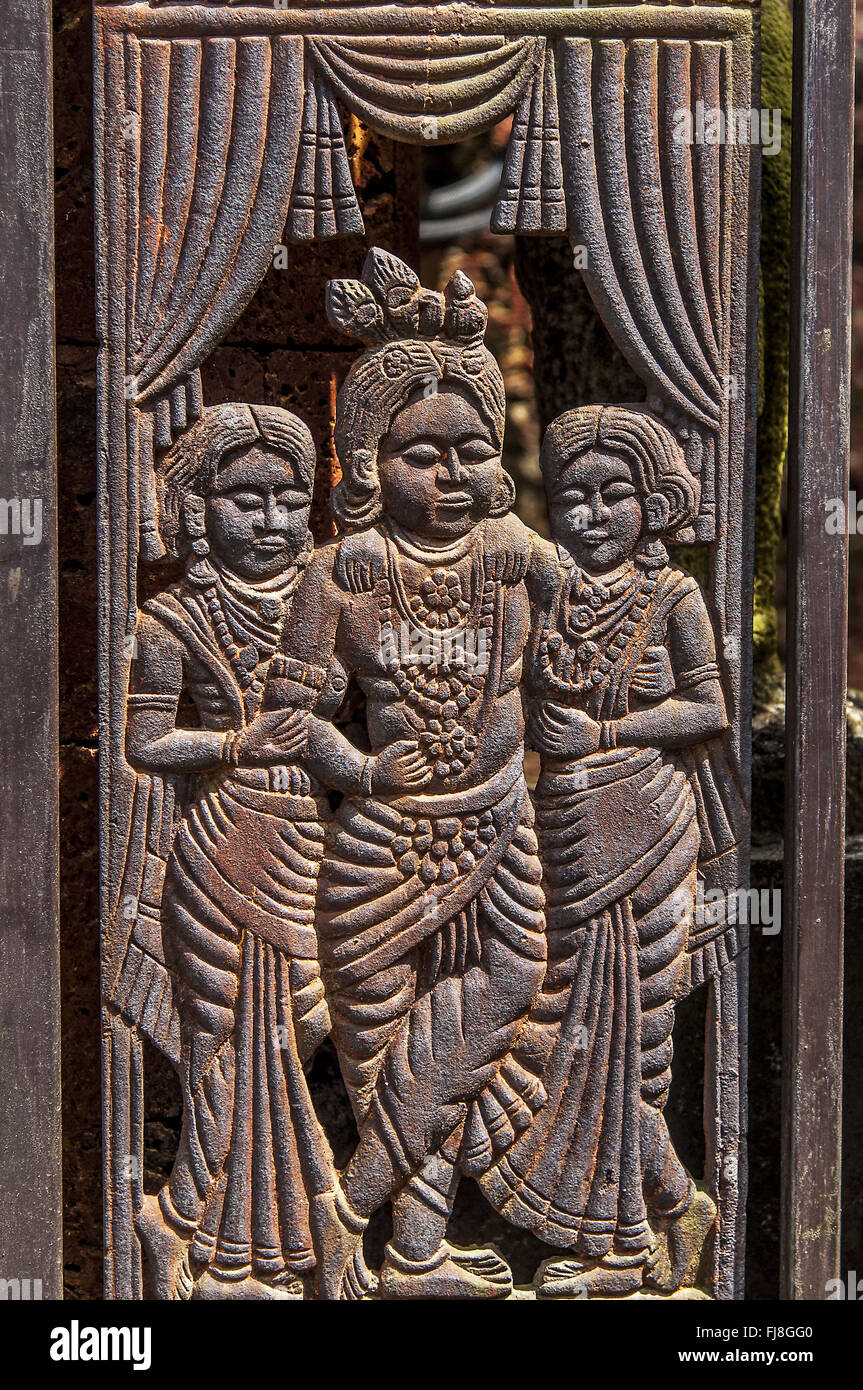 Krishna kerala folklore Theatre Museum, Cochin, Kerala, India, Asia Immagini Stock