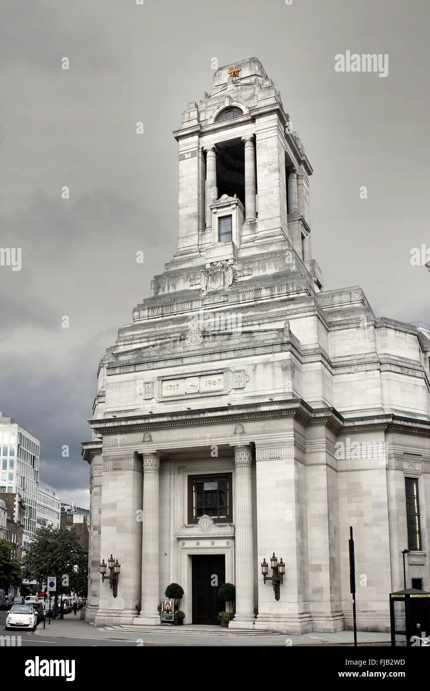 La Gran Loggia Unita d Inghilterra Headquarters - Framassoni' Hall di Covent Garden, Londra Immagini Stock