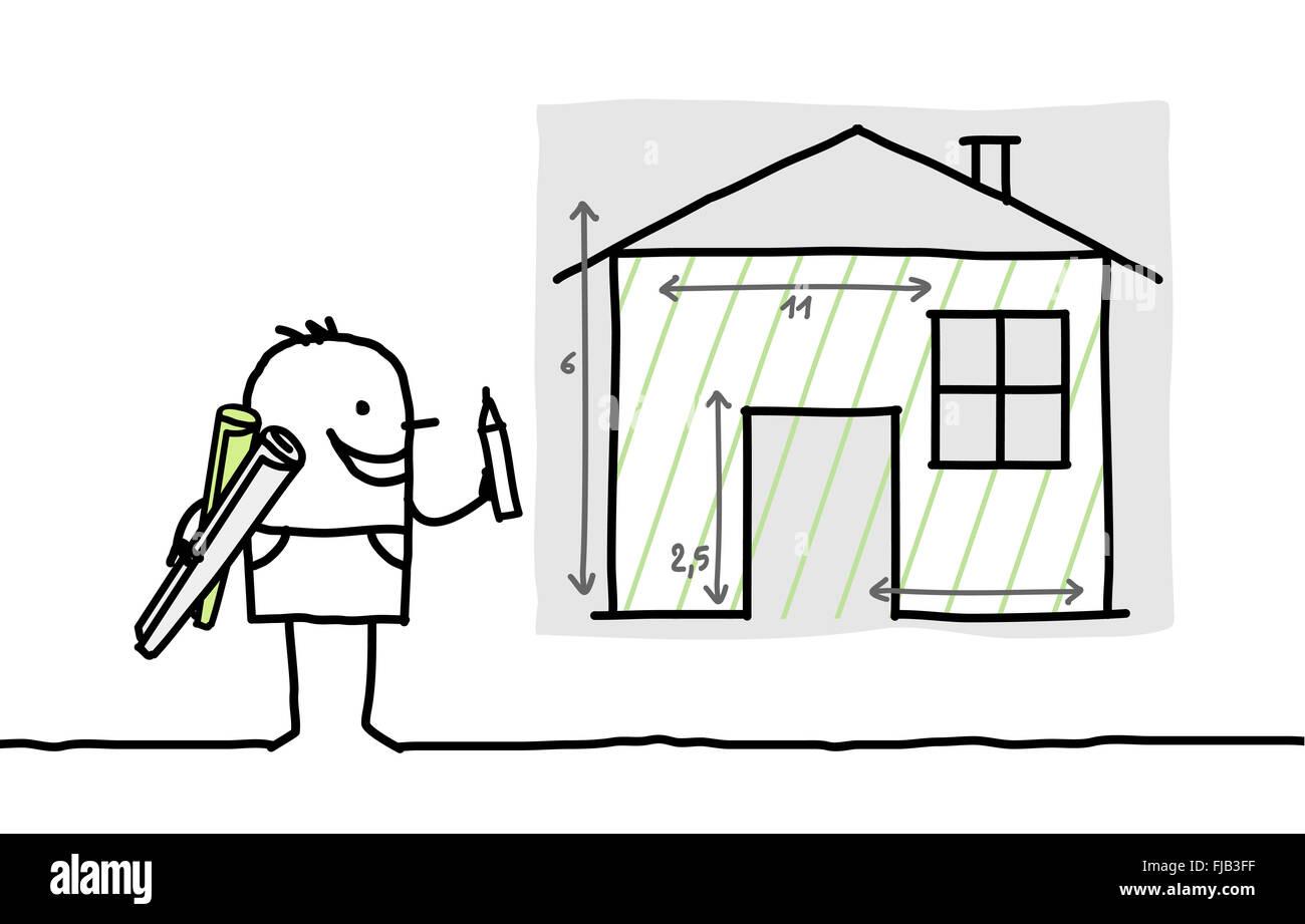 Disegnata A Mano I Personaggi Dei Cartoni Animati Uomo Disegno