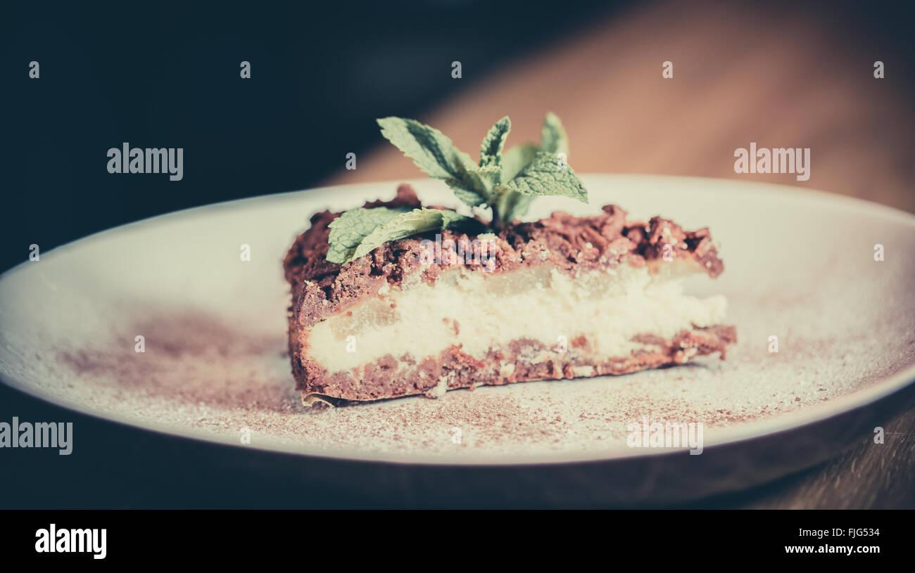 Fotografia del prodotto alimentare torta Immagini Stock