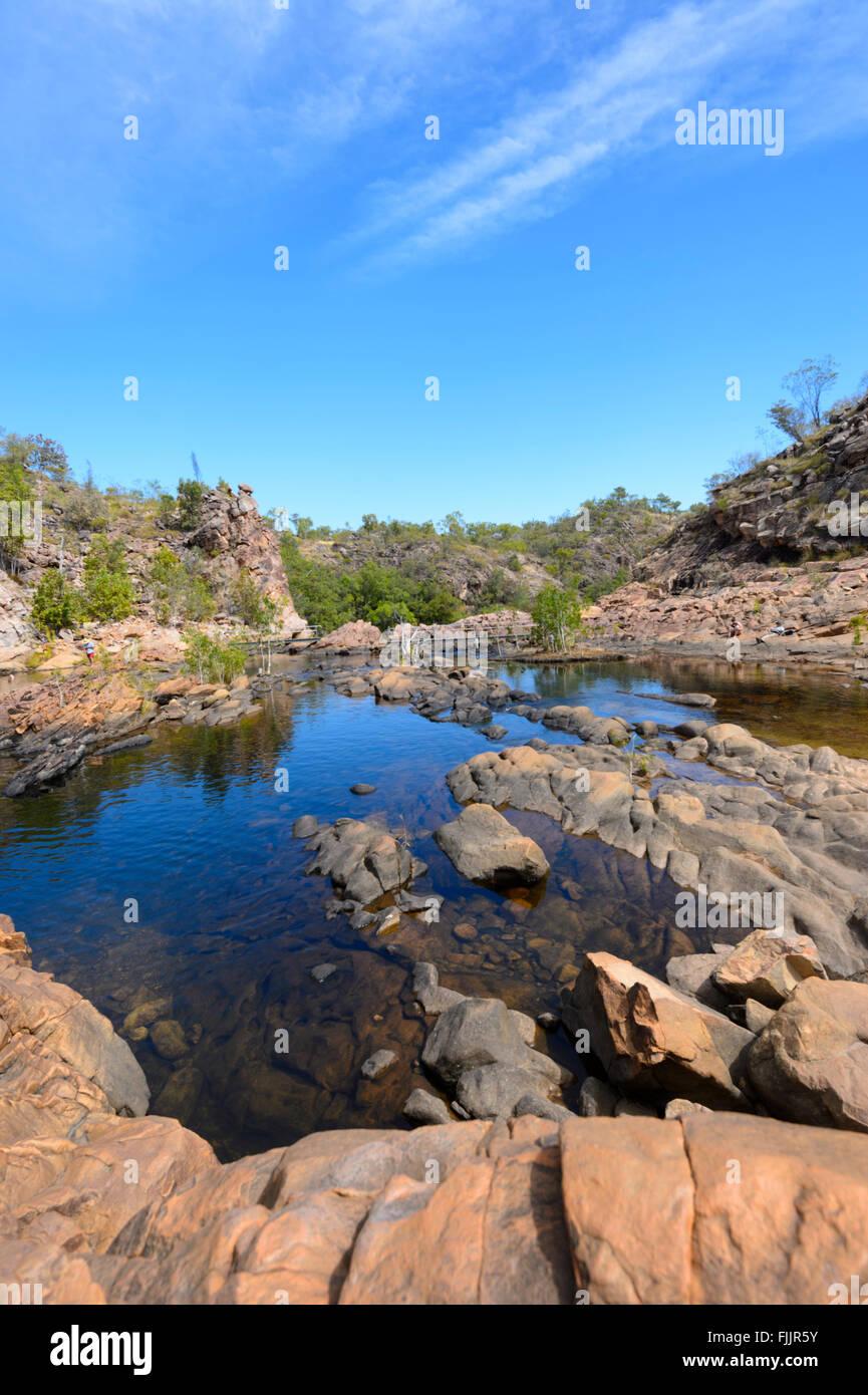 Edith Falls, Territorio del Nord, l'Australia Immagini Stock