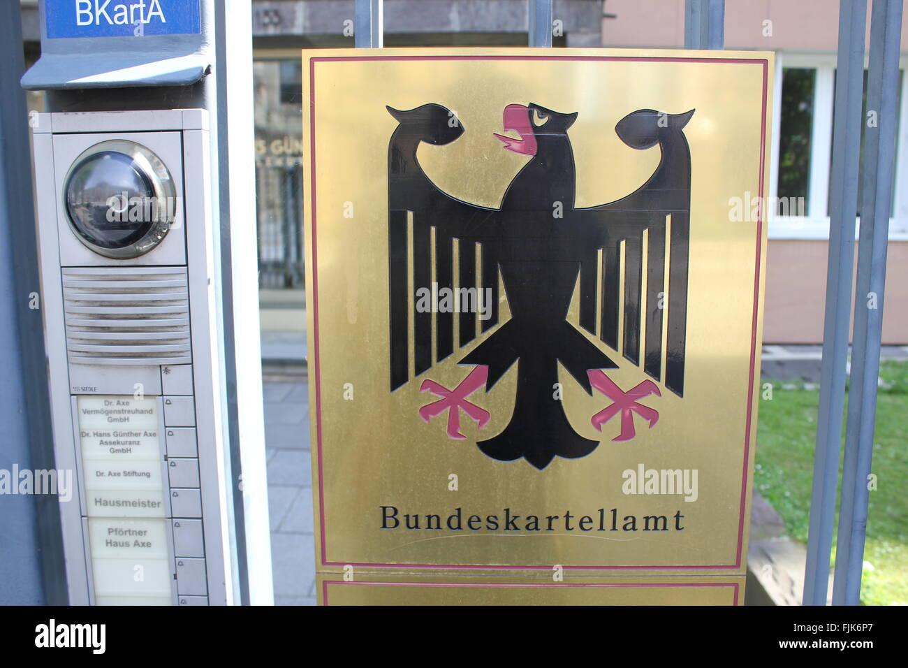 Il Bundeskartellamt, 'Bundeskartelamt', a Bonn Germania Immagini Stock
