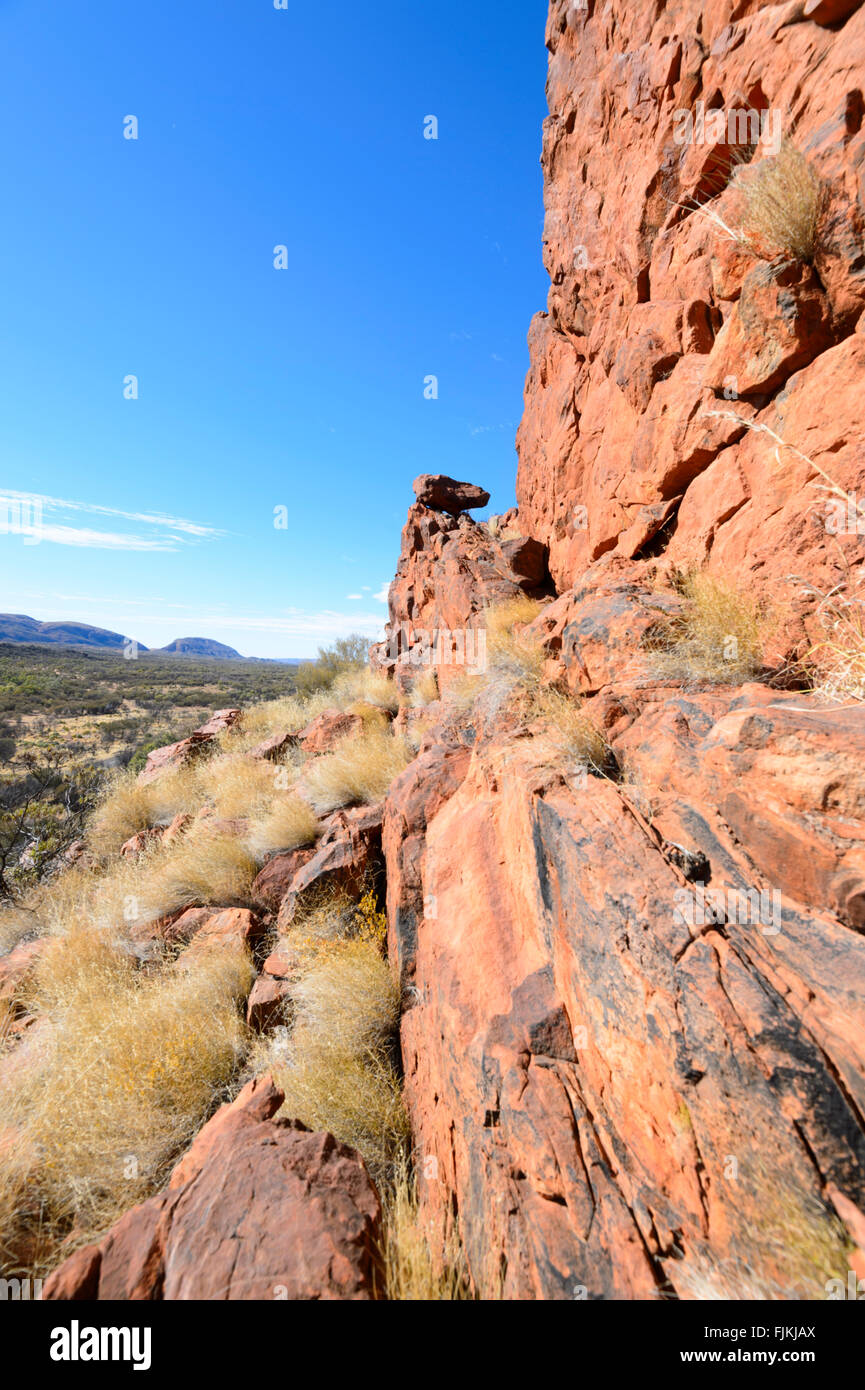 Namatjira Drive, West MacDonnell Ranges, Territorio del Nord, l'Australia Immagini Stock