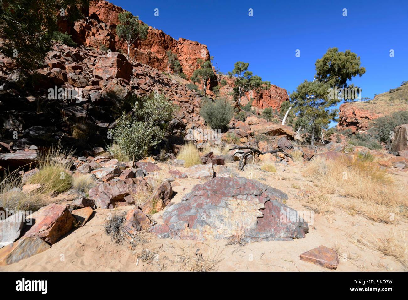 Ormiston Gorge, West MacDonnell Ranges, Territorio del Nord, l'Australia Immagini Stock