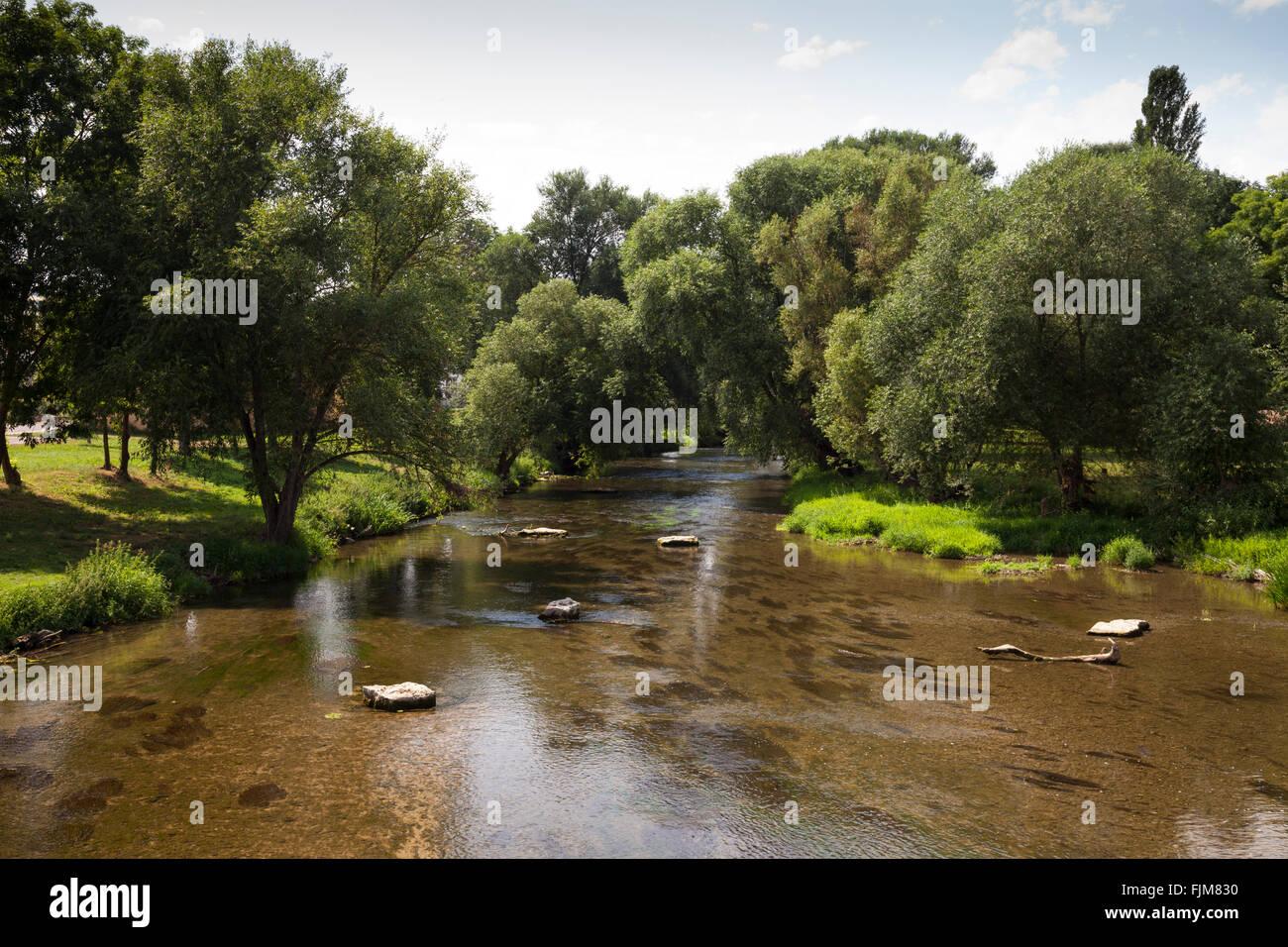 Geografia / viaggi, in Germania, in Baviera, paesaggi, Tauber river vicino Tauberrettersheim, Additional-Rights Immagini Stock