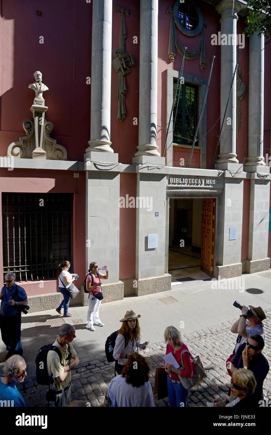 Museo Municipale di Belle Arti, Santa Cruz de Tenerife, Isole Canarie, Tenerife, Spagna Immagini Stock