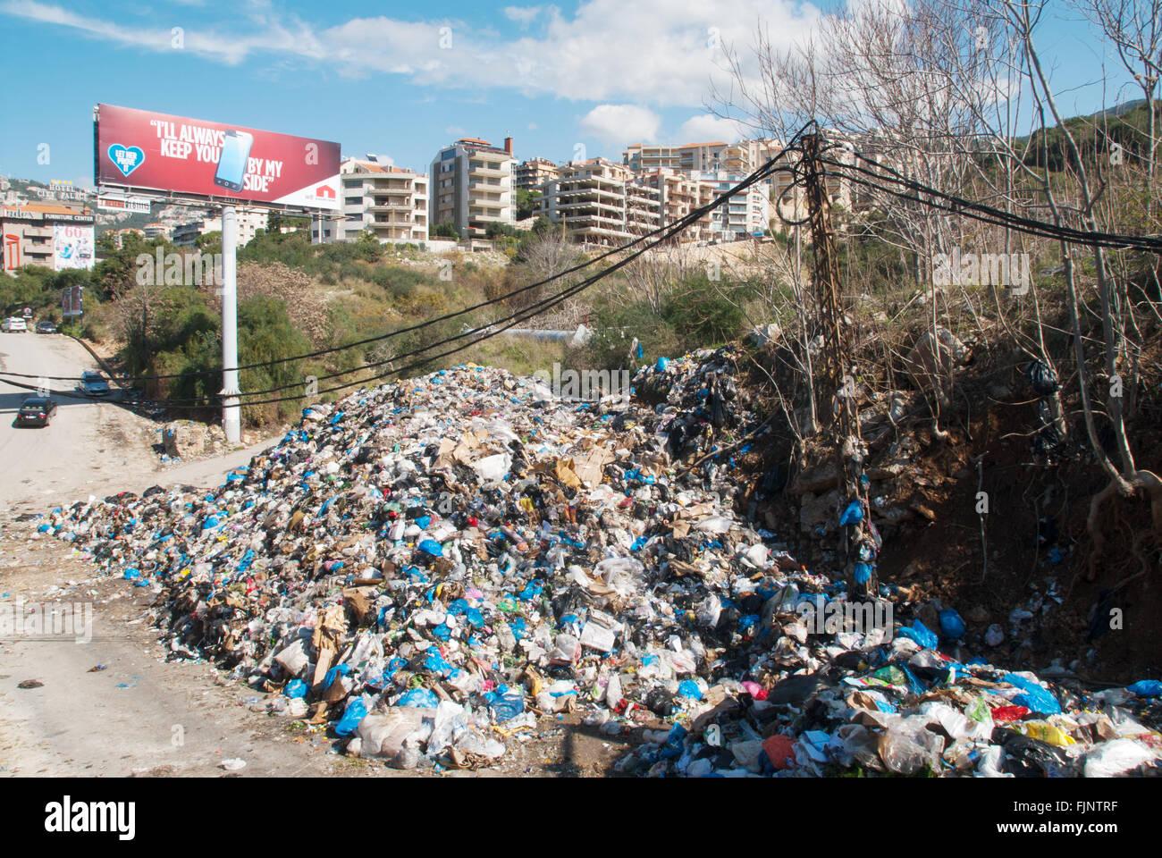 Dump cestino nord Beirut Libano Immagini Stock