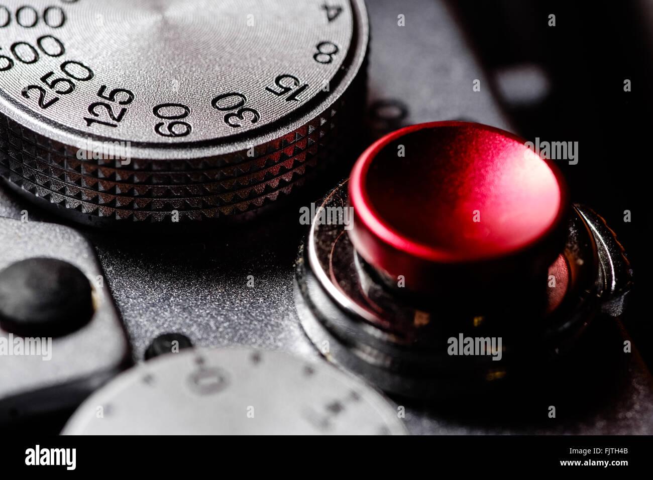 In primo piano della fotocamera Immagini Stock