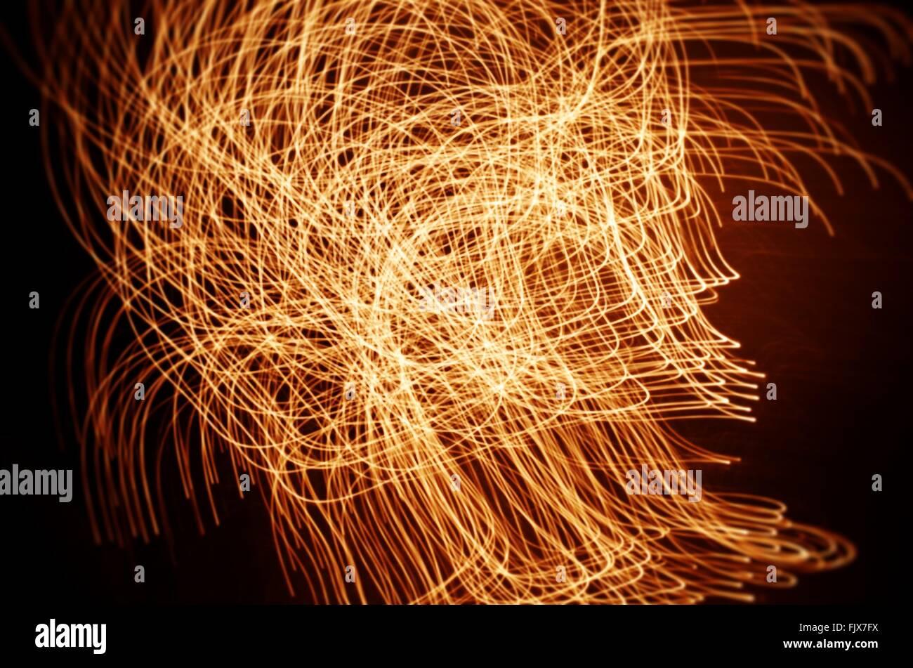 Telaio completo colpo di dipinti di luce di notte Immagini Stock