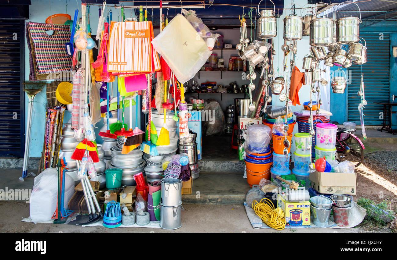 Negozio di ferramenta Alleppey Kerala India Immagini Stock