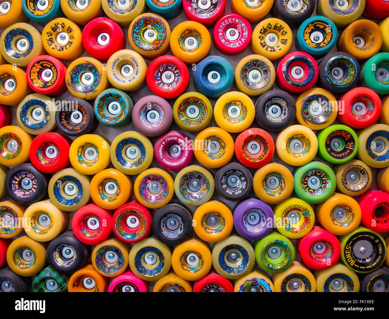 Negozio di skateboard Immagini Stock