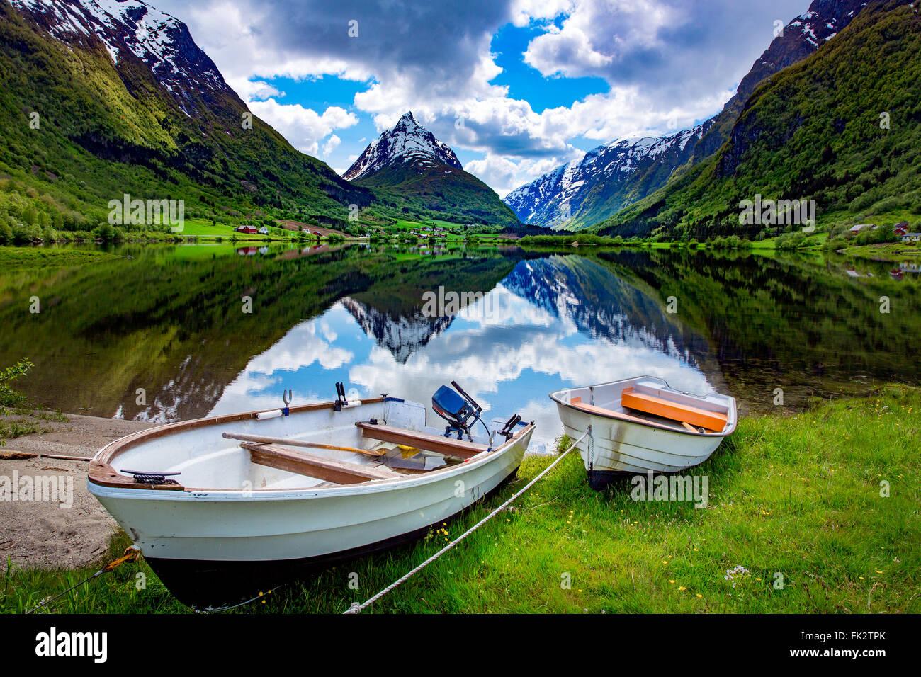 La bellissima natura della Norvegia paesaggio naturale. Immagini Stock