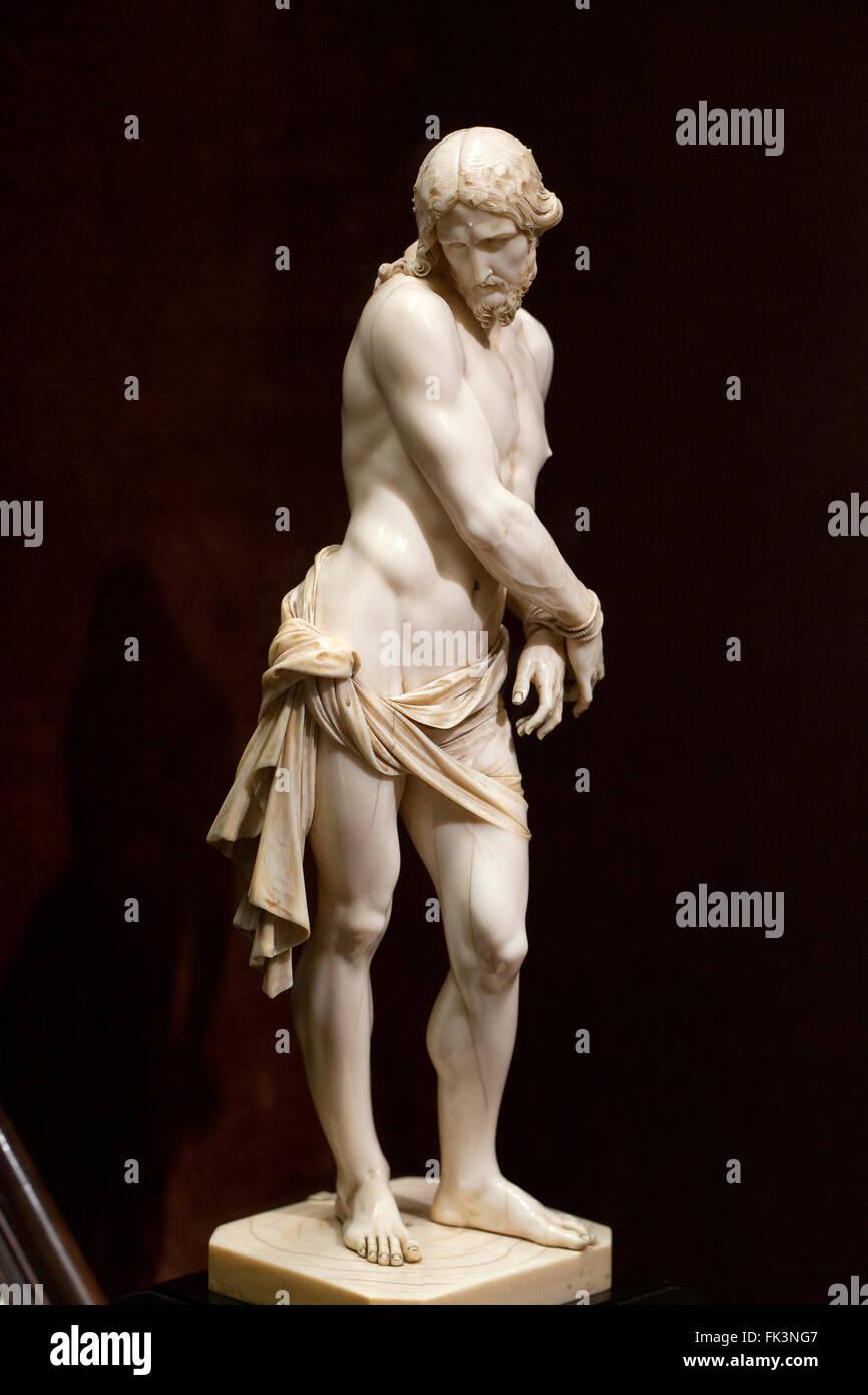 Cristo ha legato la scultura in avorio da Francois Duquesnoy, circa 1620 s Immagini Stock