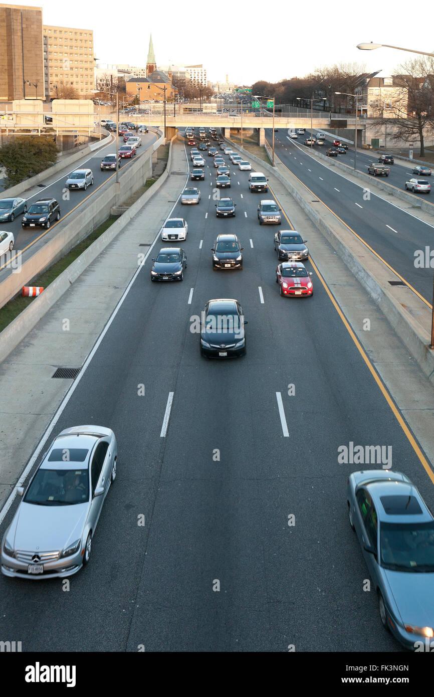 I-395 Autostrada - Washington DC, Stati Uniti d'America Immagini Stock