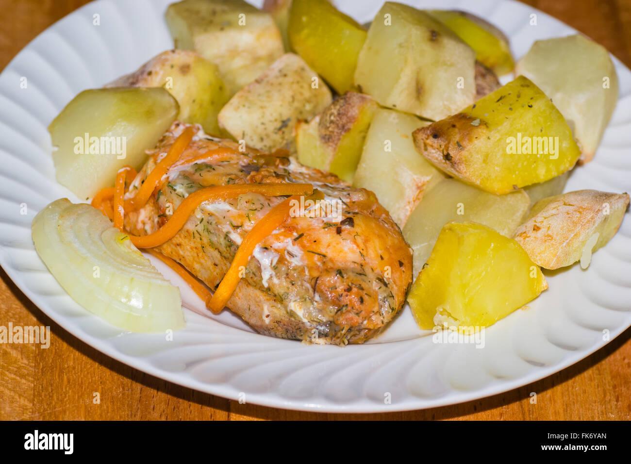 Patatine fritte, preparato, profondo, pesce il cibo, mangiare, malsano, patata, inglese, francese, britannica, patatine Immagini Stock