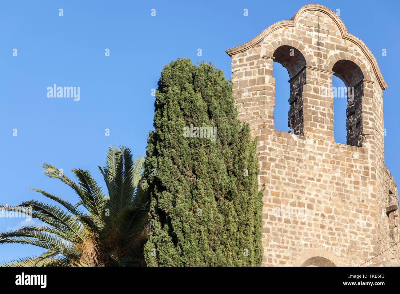 Monastero di Sant Pau del Camp, antico monastero benedettino. stile romanico. El Raval. Barcellona. Foto Stock