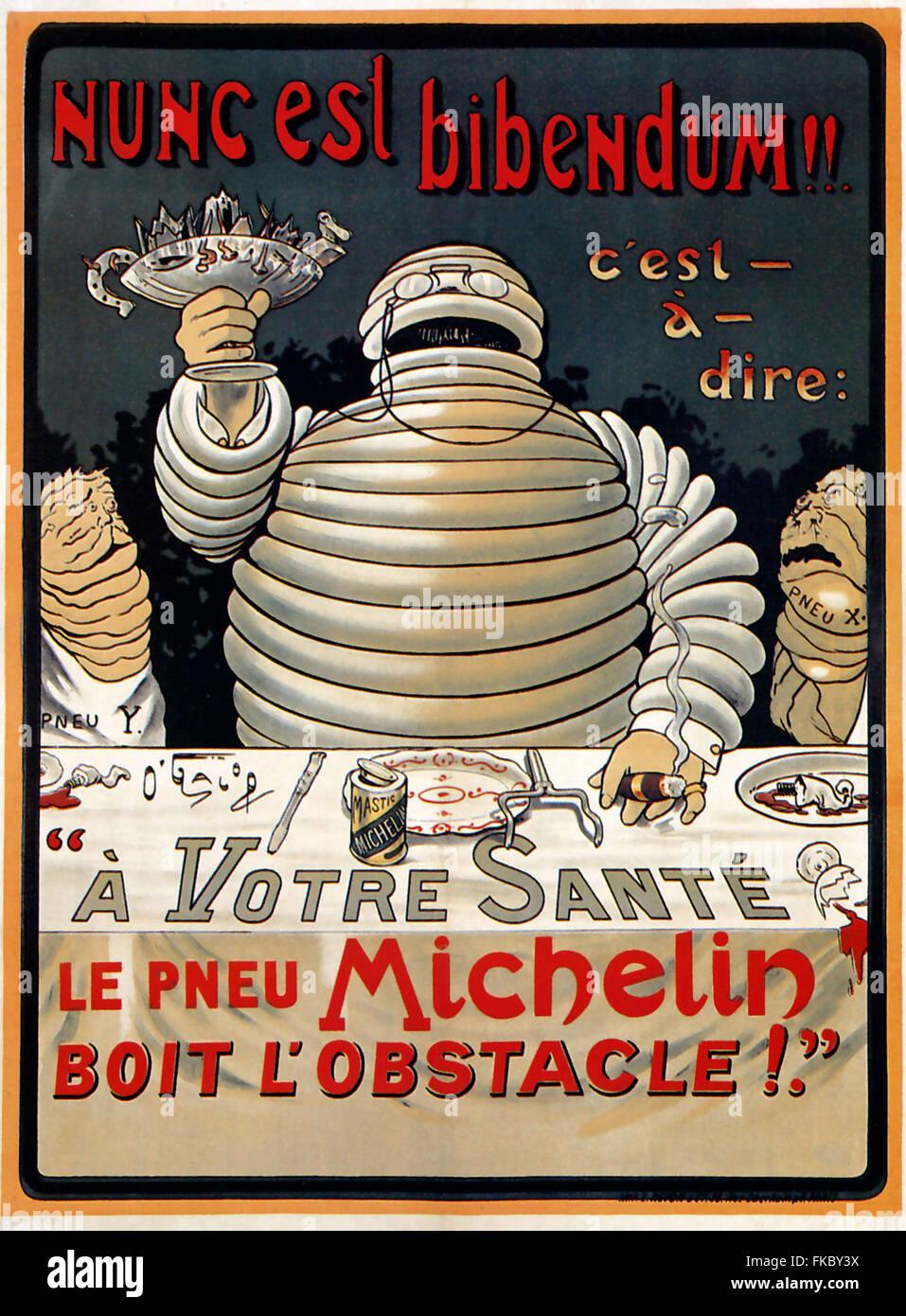 Francia Michelin Poster Immagini Stock