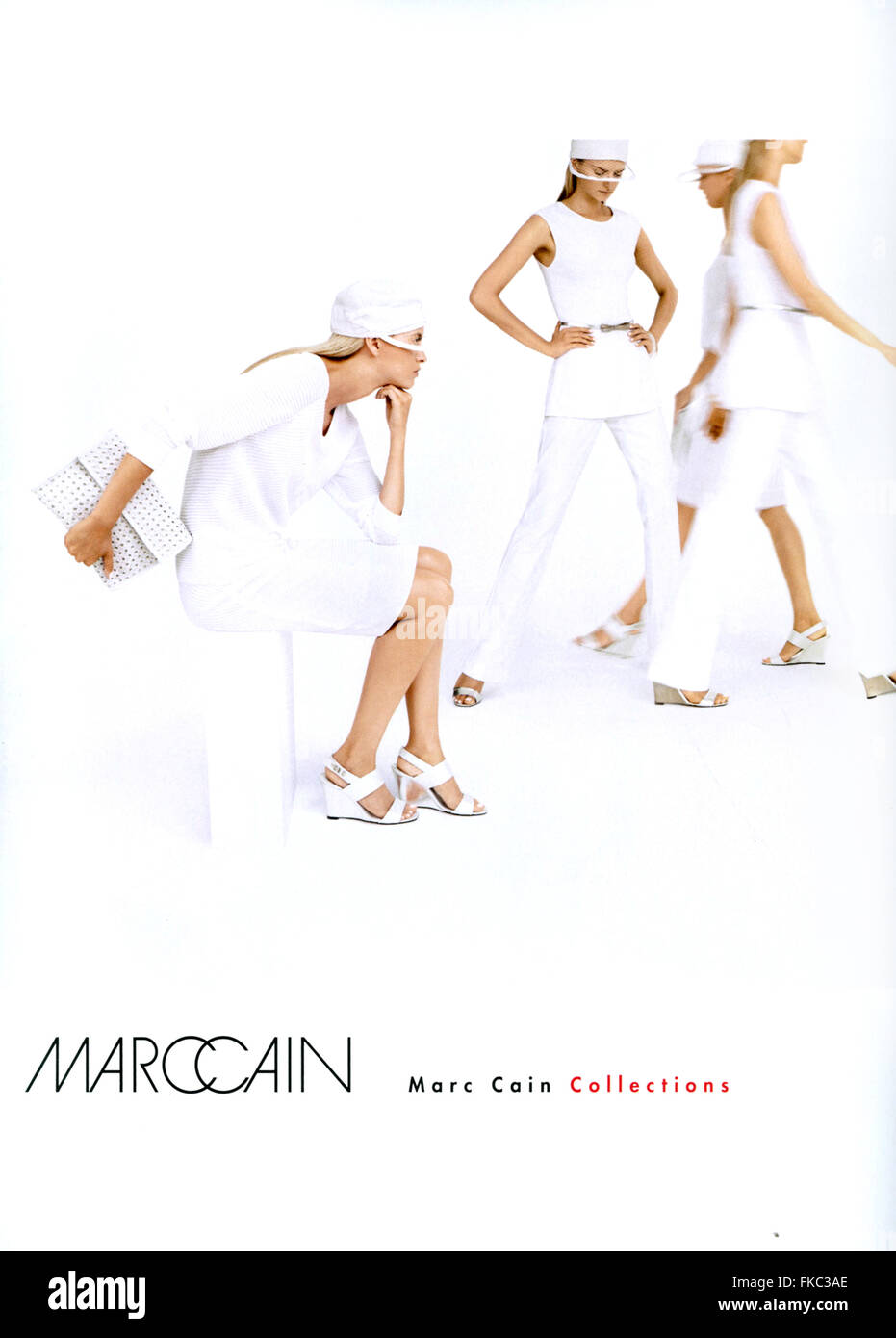2010S UK Marc Caino Magazine annuncio pubblicitario Immagini Stock