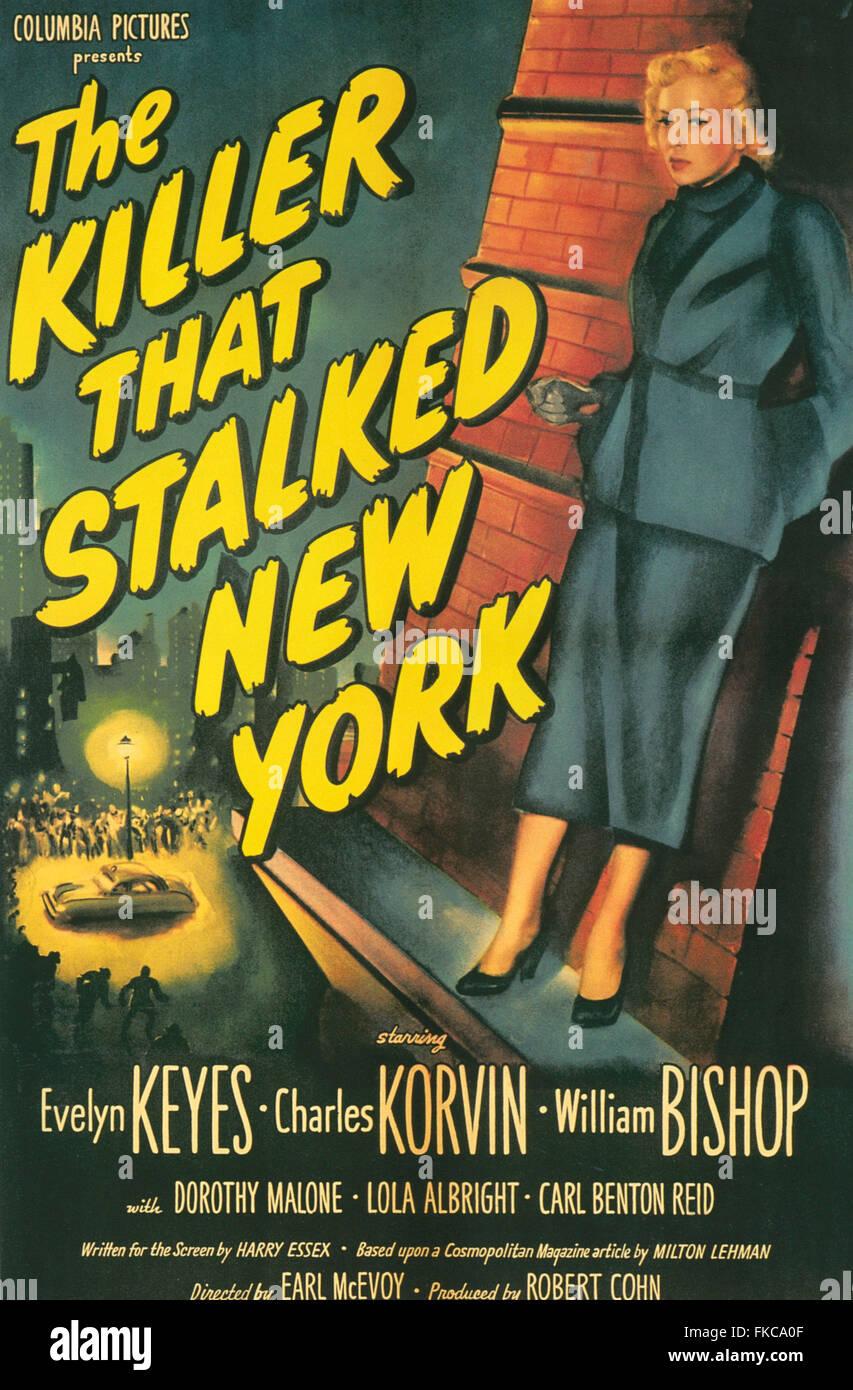 Anni Cinquanta USA Il killer che sgambate New York Film Poster Immagini Stock