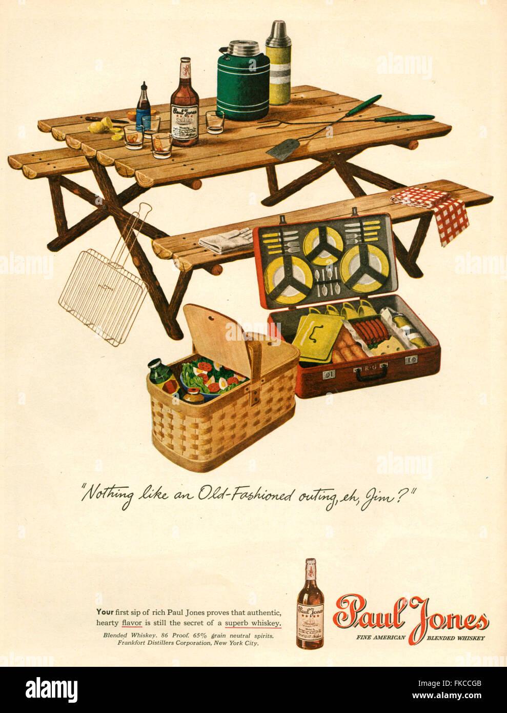 1940s USA Paul Jones Magazine annuncio pubblicitario Immagini Stock