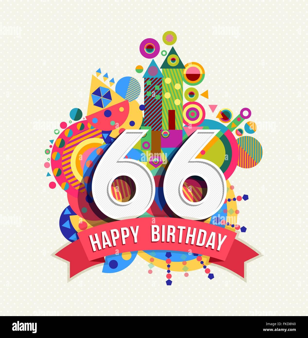 Auguri Buon Compleanno 66 Anni.Buon Compleanno Sessantasei 66 Anno Divertimento