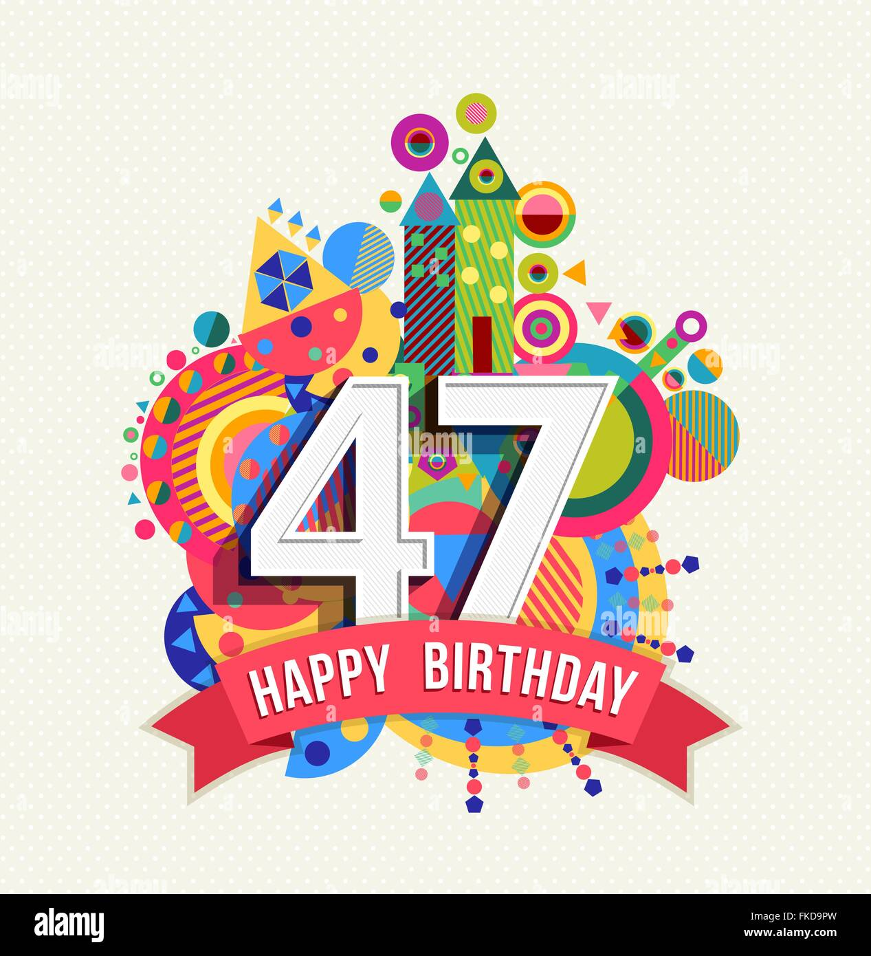 Auguri Buon Compleanno 47 Anni.Buon Compleanno Quarantasette 47 Anno Divertimento