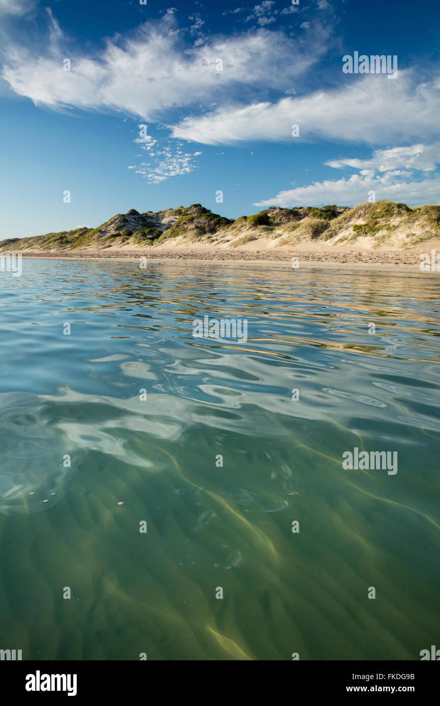 La spiaggia di Porto Gregorio, Australia occidentale Immagini Stock