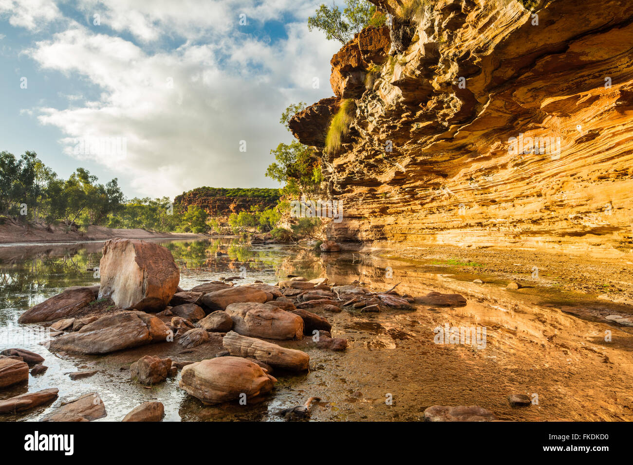 Il Murchison River Gorge a Ross Graham, Kalbarri National Park, Australia occidentale Immagini Stock