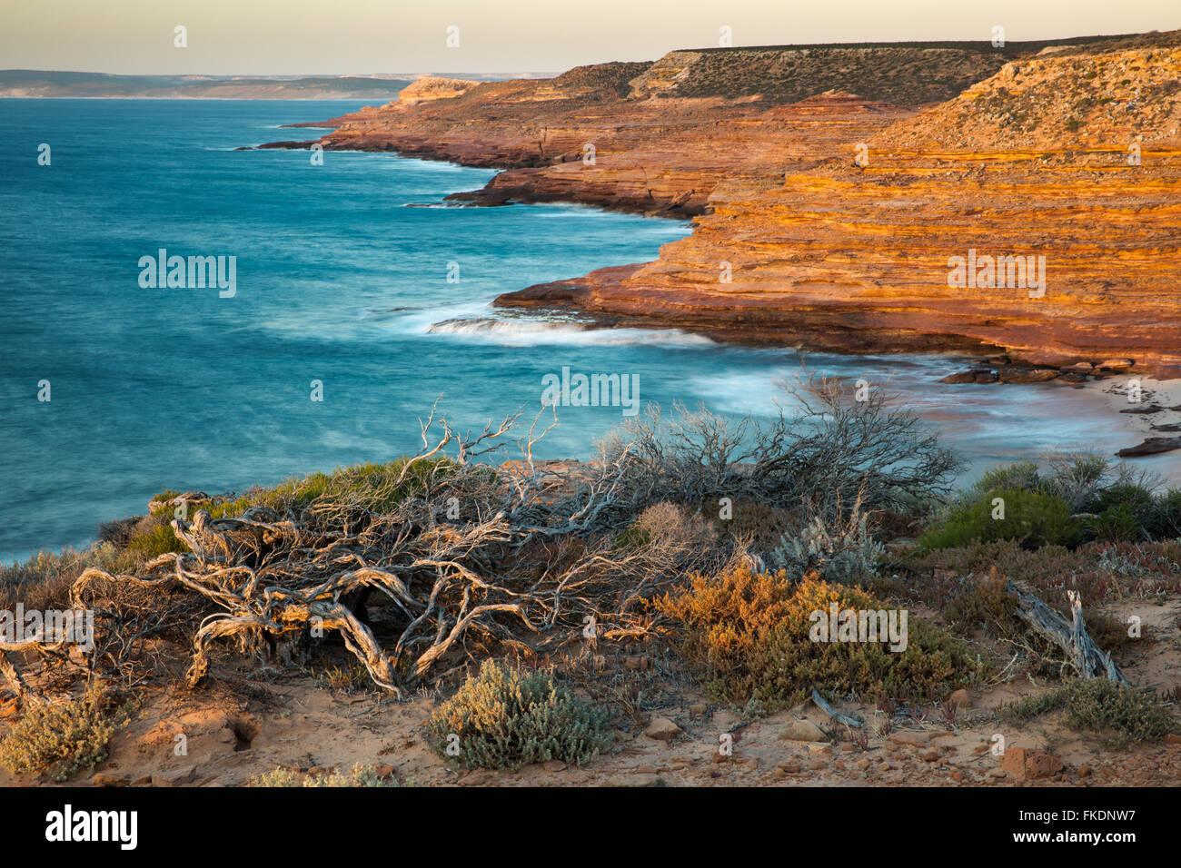 Gantheaume Bay da l'Aquila lookout, Kalbarri National Park, Australia occidentale Immagini Stock
