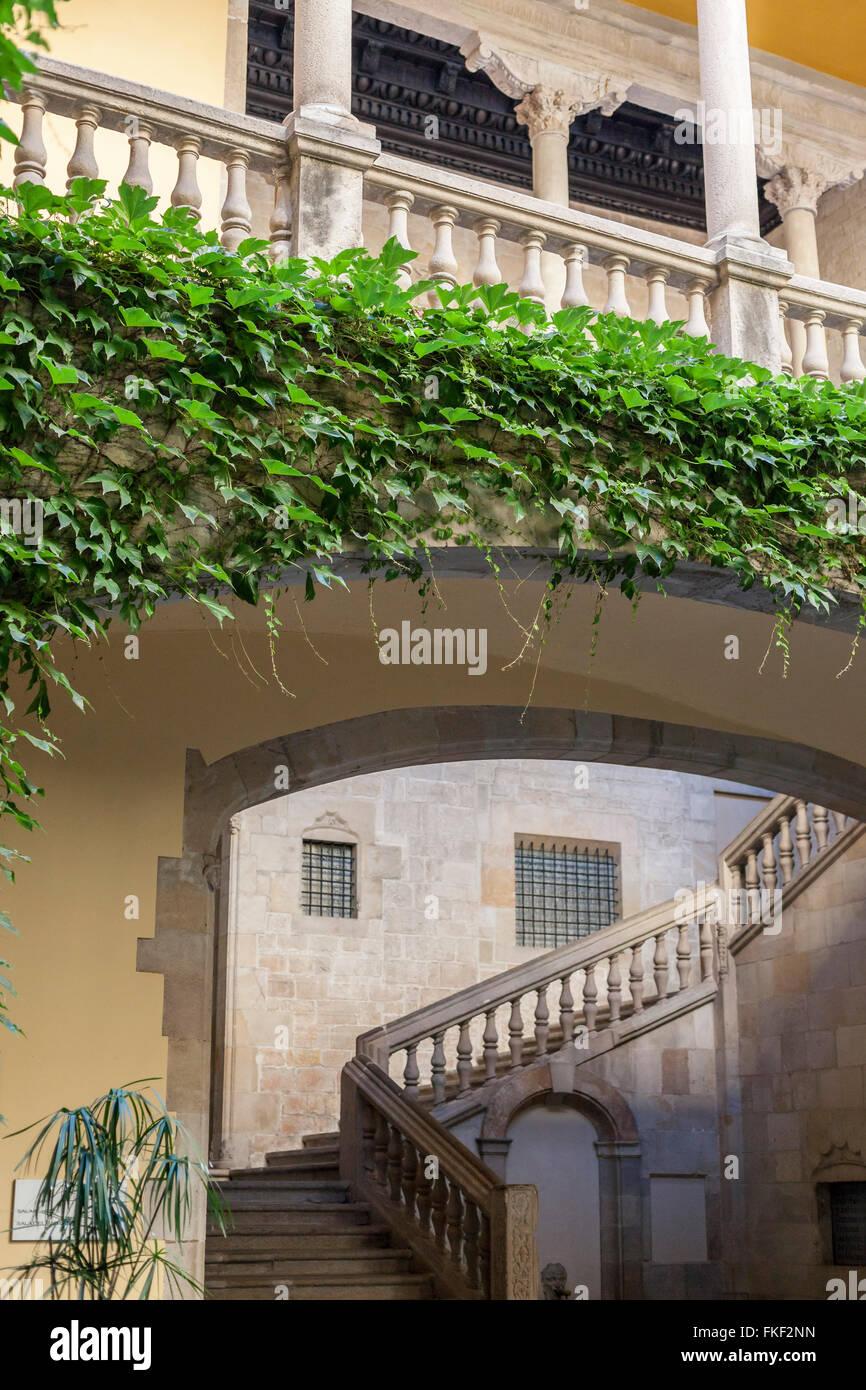 Palau del Lloctinent- Arxiu de la Corona d'Aragó. Barcellona. Immagini Stock
