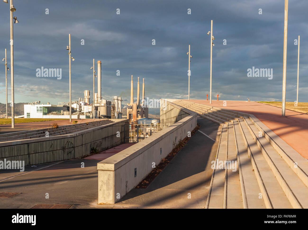 Parc del Forum di Barcellona. Foto Stock