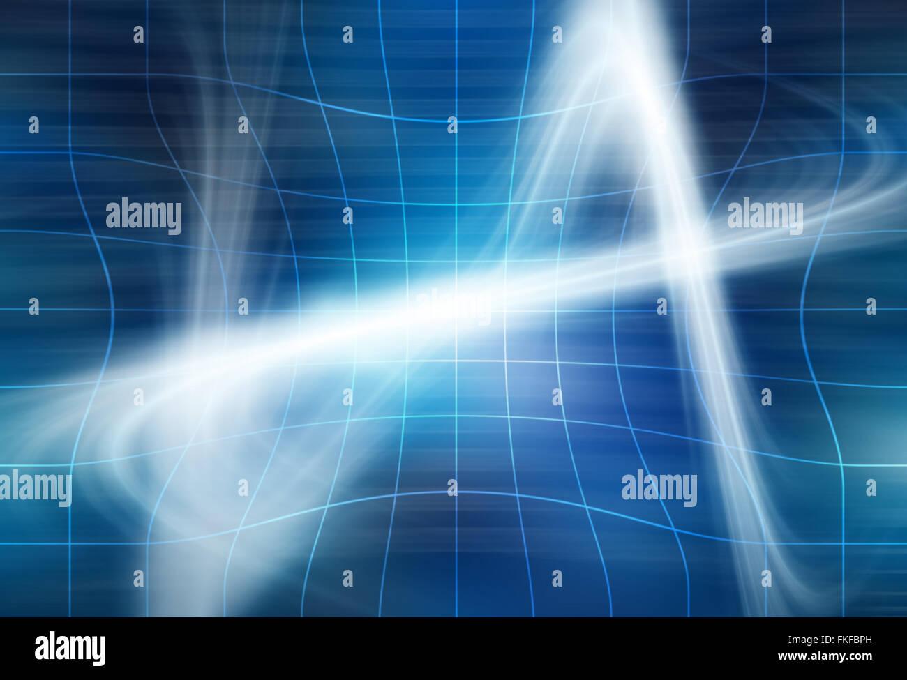 Le onde gravitazionali concept Immagini Stock