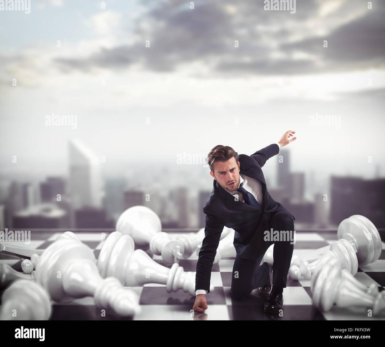 Vincitore di una battaglia di business Foto Stock