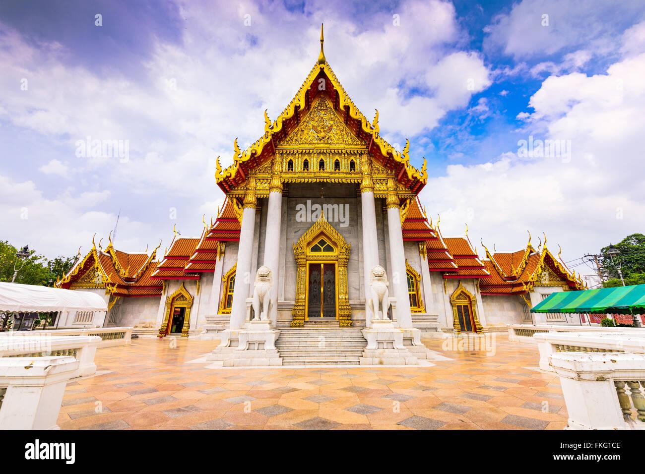 Bangkok, Thailandia presso il tempio in marmo. Immagini Stock
