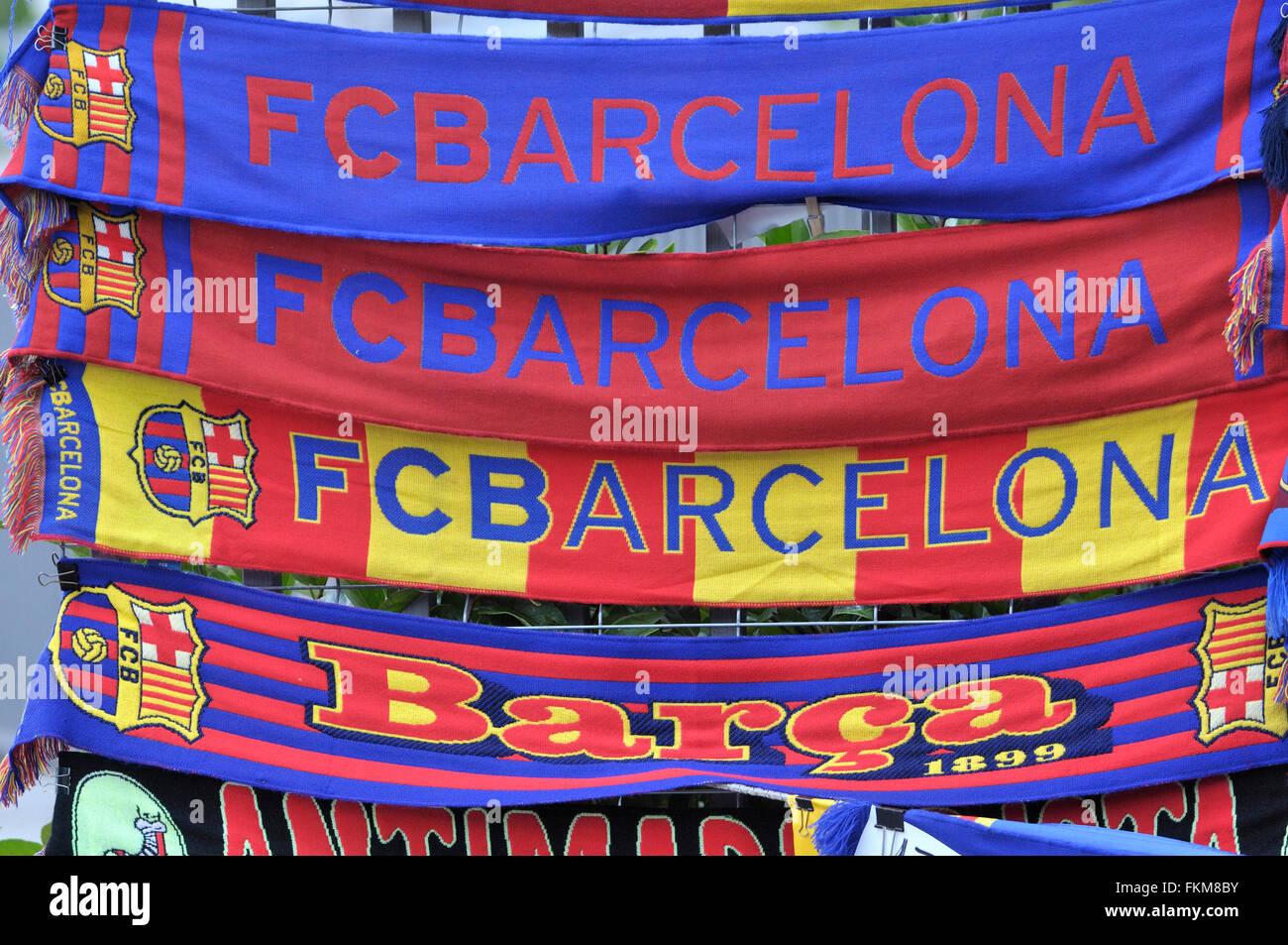Negozio di souvenir del Football Club Barcelona . Barcellona. La Catalogna.  Spagna. 1ebc728225f