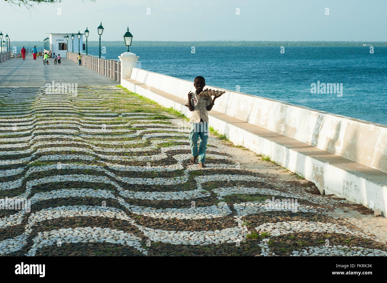 Il molo principale, Ilha de Mozambico, Nampula, Mozambico Immagini Stock