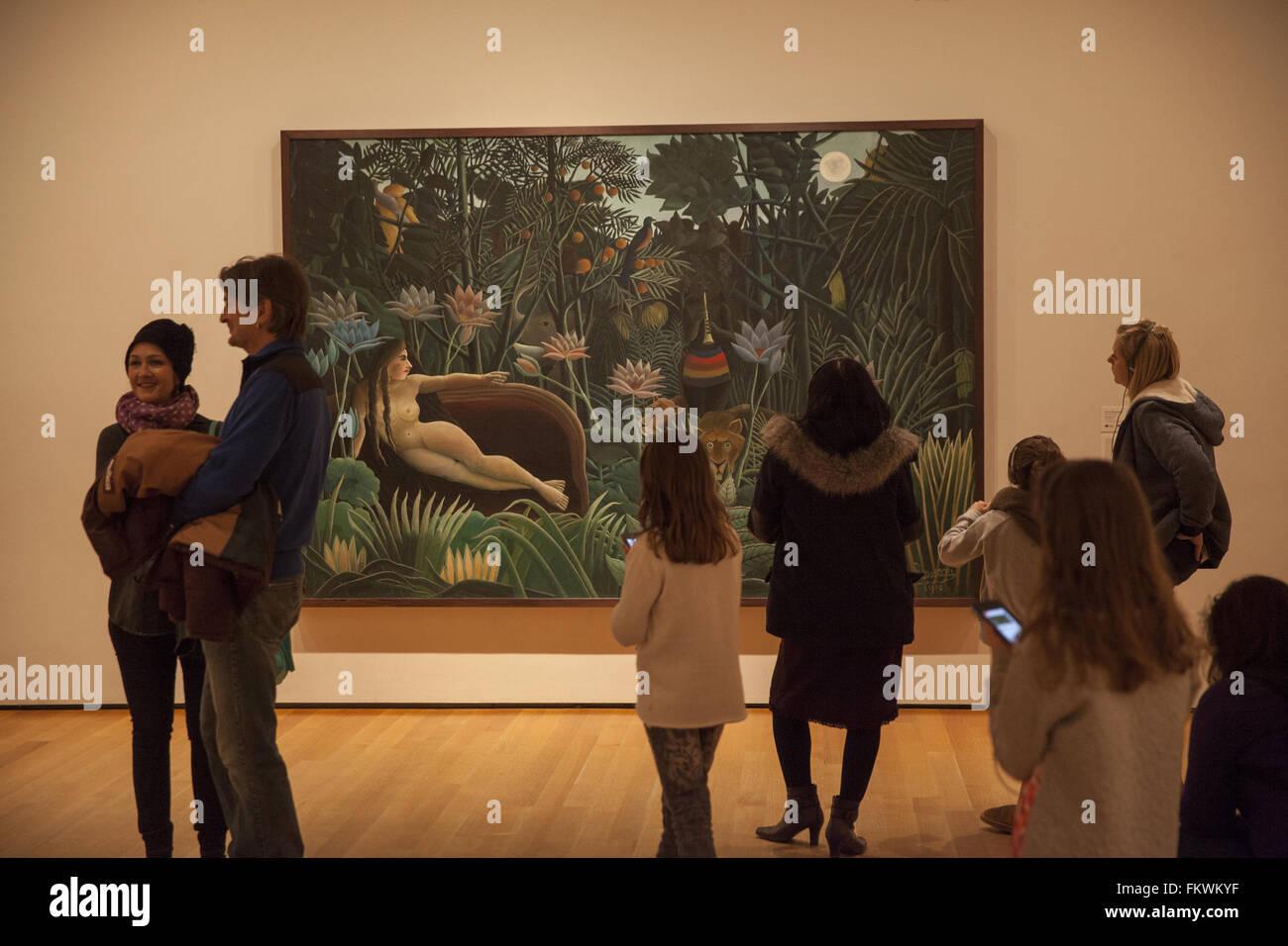 Henri Rousseau il sogno, 1910, il Museo di Arte Moderna di New York City. Immagini Stock