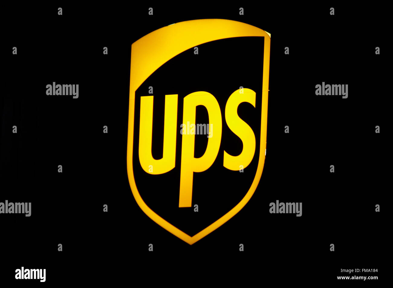 """Markenname: """"UPS United Parcel Service', Berlino. Immagini Stock"""